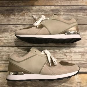 ZARA Gold Sneakers Tennis Shoes Sz 41 Sneakers